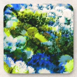 Cool Flowering Garden Cork Back Coasters