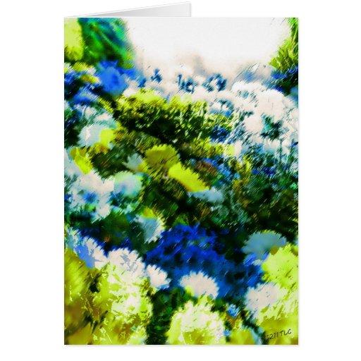 Cool Flowering Garden Greeting Card