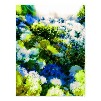 Cool Flowering Garden Postcard