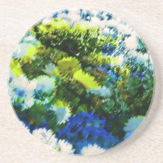 Cool Flowering Garden Sandstone Coaster