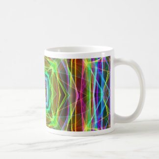 Cool Fluorescent Electrifying Pastel Squares Coffee Mug