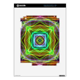 Cool Fluorescent Electrifying Pastel Squares iPad 2 Decals