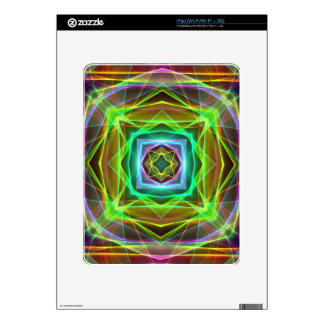Cool Fluorescent Electrifying Pastel Squares iPad Skin