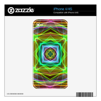 Cool Fluorescent Electrifying Pastel Squares iPhone 4 Decals