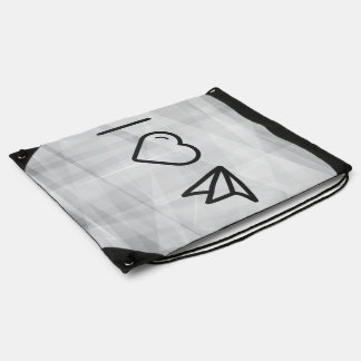 Cool Folded Planes Drawstring Backpack