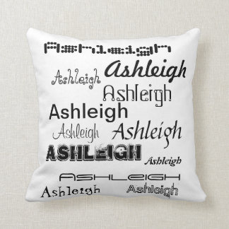 Cool Fonts Your Name Personalized Pillows