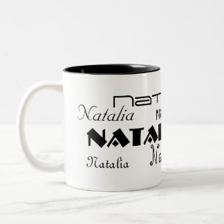Cool Fonts Your Name Personalized Two-Tone Coffee Mug