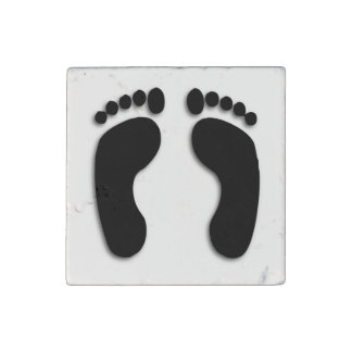 Cool Foot Prints Stone Magnet
