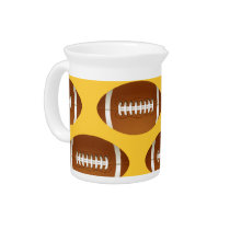 cool football ball drink pitcher