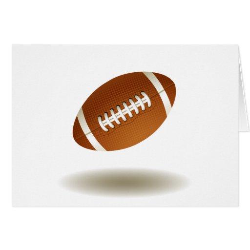 Cool Football Emblem Greeting Card