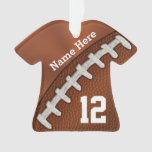 Cool Football Ornaments with NAME and NUMBER