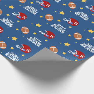 Cool Football Super Star Wrapping Paper