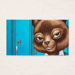 Cool For School Cat Drawing by Al Rio Business Card