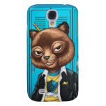 Cool For School Cat Drawing by Al Rio Samsung Galaxy S4 Cases
