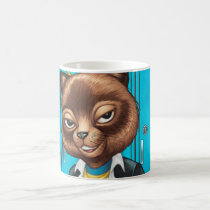 cat, kitten, school, cool cat, smiling, learning, lockers, art, drawing, al rio, happy, congrats, Mug with custom graphic design