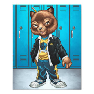Cool For School Cat Drawing by Al Rio Flyer