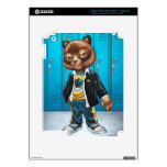 Cool For School Cat Drawing by Al Rio iPad 3 Decal
