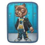 Cool For School Cat Drawing by Al Rio Sleeves For iPads