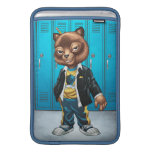 Cool For School Cat Drawing by Al Rio MacBook Air Sleeves