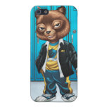 Cool For School Cat Drawing by Al Rio iPhone 5/5S Covers
