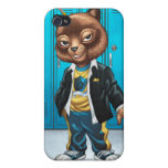 Cool For School Cat Drawing by Al Rio Case For iPhone 4