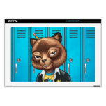 Cool For School Cat Drawing by Al Rio Laptop Skins