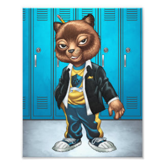 Cool For School Cat Drawing by Al Rio Photograph