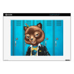 Cool For School Cat Drawing by Al Rio Skins For Laptops