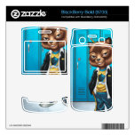 Cool For School Cat Drawing by Al Rio Skins For BlackBerry Bold