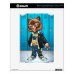 Cool For School Cat Drawing by Al Rio Skin For NOOK