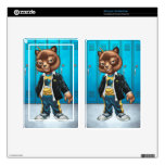 Cool For School Cat Drawing by Al Rio Kindle Fire Decals