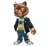 Cool For School Cat Drawing by Al Rio Statuette