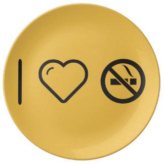 Cool Forbidden Cigars Porcelain Plate