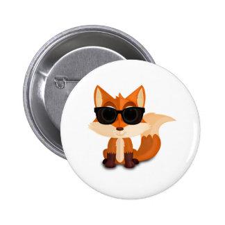 Cool Fox Pinback Buttons