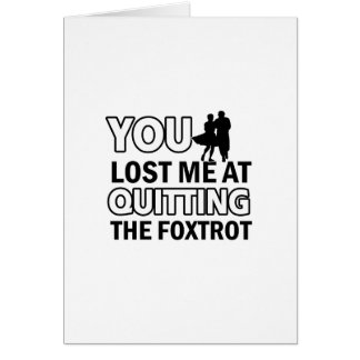 Cool fox trot designs card