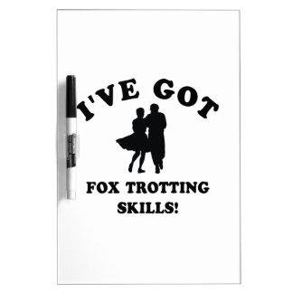 COOL FOX TROTTING SKILLS DESIGNS DRY ERASE WHITE BOARD