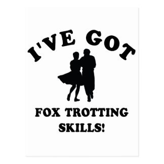 COOL FOX TROTTING SKILLS DESIGNS POSTCARD