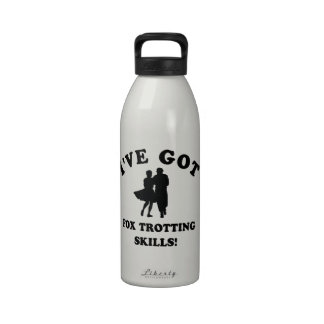 COOL FOX TROTTING SKILLS DESIGNS REUSABLE WATER BOTTLE