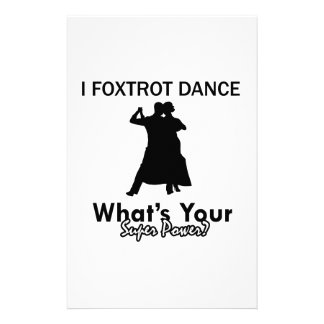 Cool Foxtrot dance designs Custom Stationery