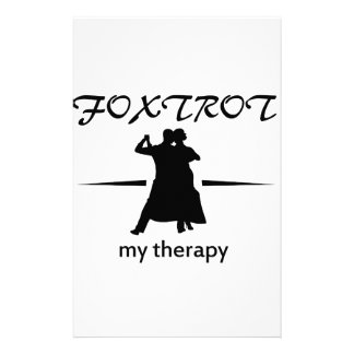 Cool Foxtrot dance designs Stationery Paper
