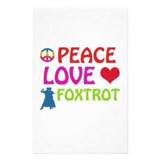 Cool Foxtrot dance designs Stationery Design