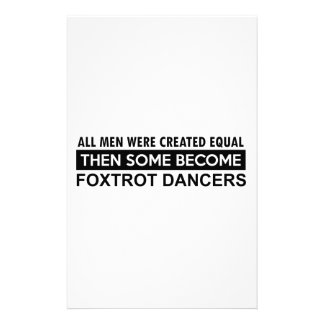 Cool Foxtrot dance designs Personalized Stationery