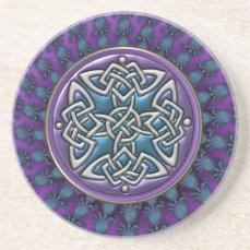 Cool Fractal Mandala Celtic Knot Coaster