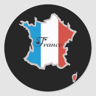Cool France Classic Round Sticker
