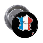 Cool France Pinback Button