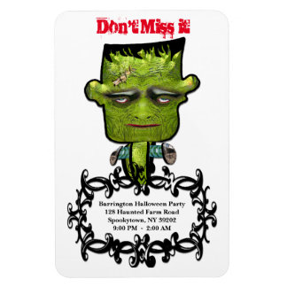 Cool Frank Fright Halloween Party Reminder Magnet