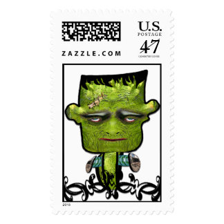 Cool Frank Fright Halloween Postage