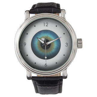 Cool Freaky Weird Blue Eye Eyeball Wrist Watch