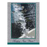 Cool Freeze Happy New Year Postcard