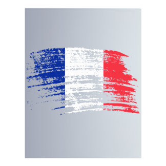 """Cool French flag design 8.5"""" X 11"""" Flyer"""